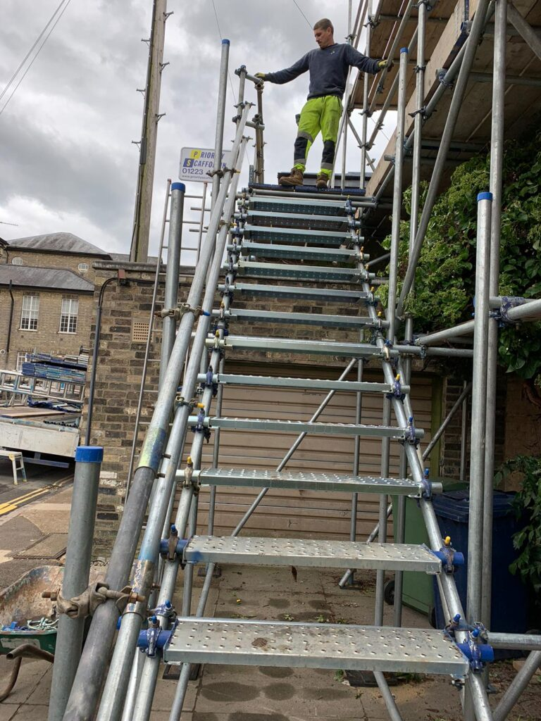 Stair Scaffolding in Cambridge